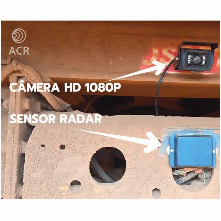 Detalhe do Sensor Radar e Câmera