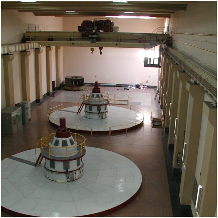 Aplicação de Moitão com Giro e Pesagem em usina hidrelétrica