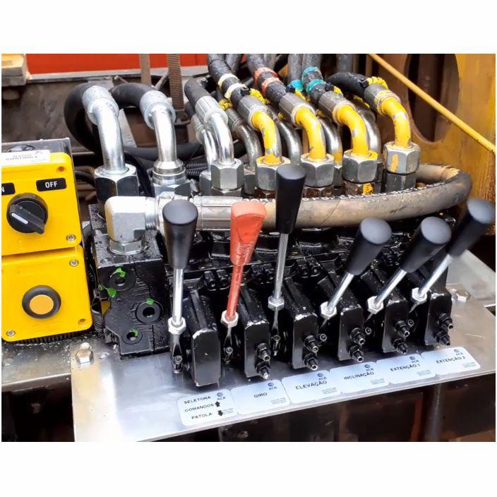 Bloco hidráulico com eletroválvulas proporcionais