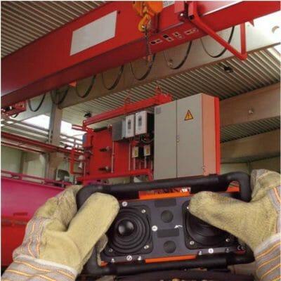 Aplicação Radio Controle Eco em Ponte Rolante