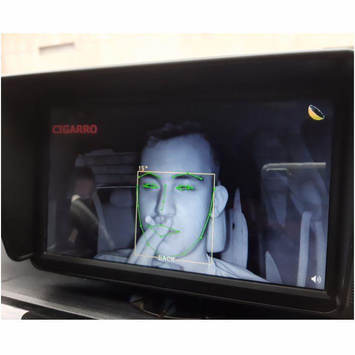 Detecção do condutor fumando