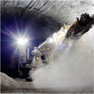 Exemplo de aplicação em máquinas de mineração