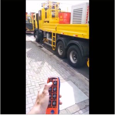 Aplicação de controle Quadrix em caminhão de manutenção ferroviária