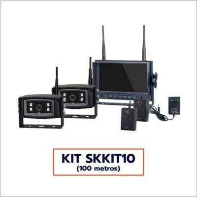 Kit Câmera Wireless SKKIT10 (2 câmeras, alcance 100 metros)