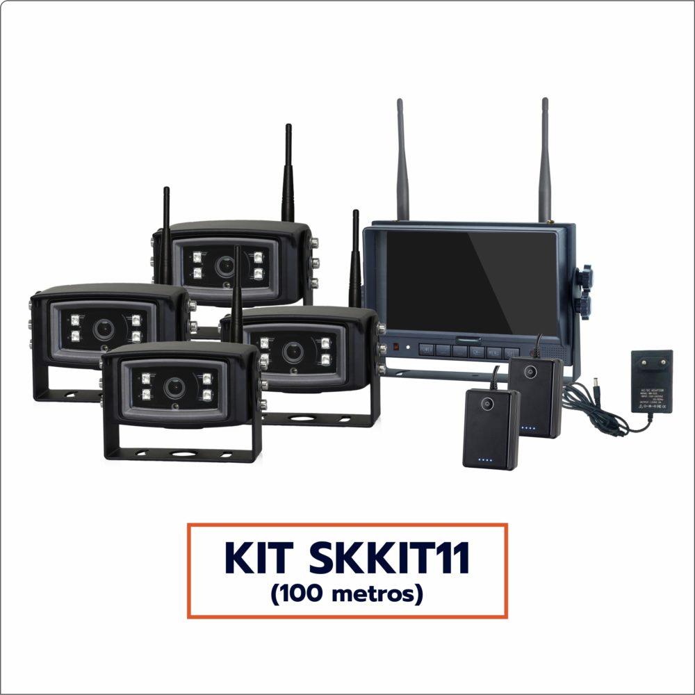 Kit Câmera Wireless SKKIT11 (4 câmeras, alcance 100 metros)