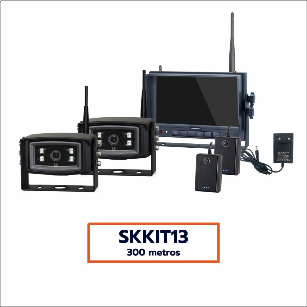 Kit Câmera Wireless SKKIT13 (2 câmeras. alcance 300 metros)