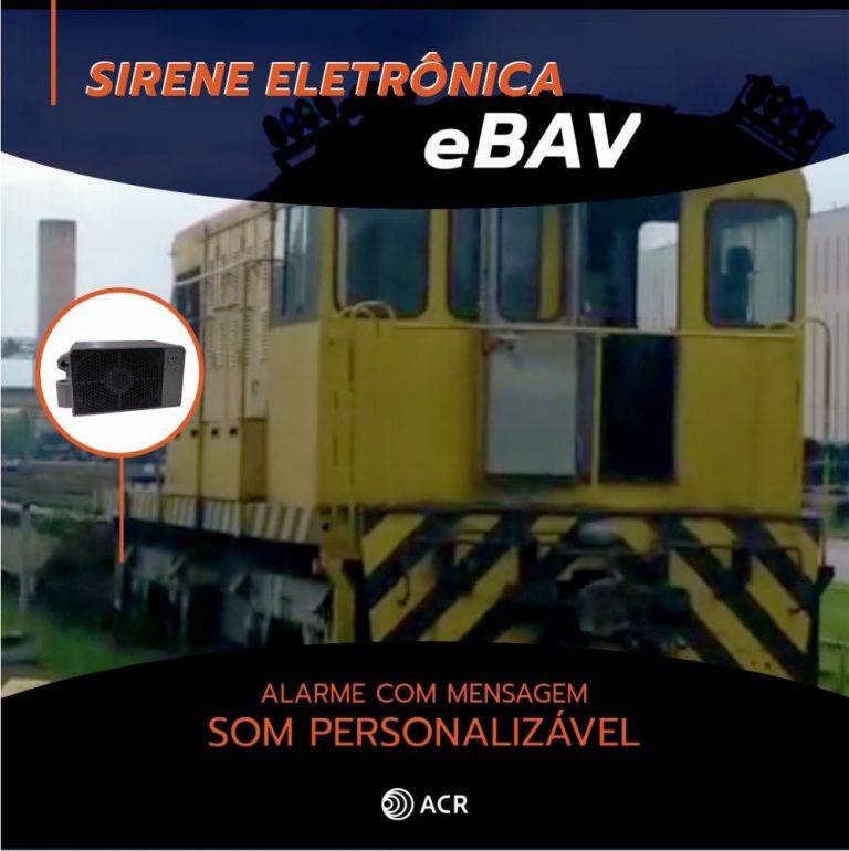 Sirene Eletrônica eBAV c/ som personalizável